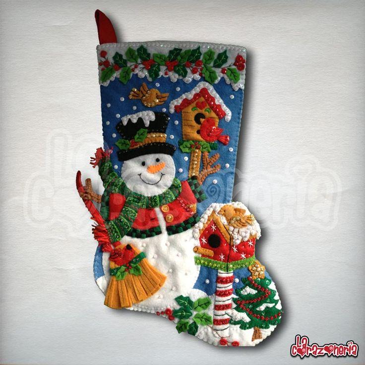 Bota de Navidad - Pájaros de Navidad