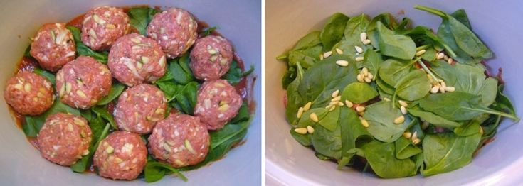 pine nut meatballs w/veggies & spinach: in the crockpot!: Crockpotslow Cooker, Crock Pots Recipes, Slow Cooker Recipes, Crockpot Recipes, Paleo Meatballs, Assort Veggies, Crockpot Slow Cooker, Paleo Recipes, Nut Meatballs