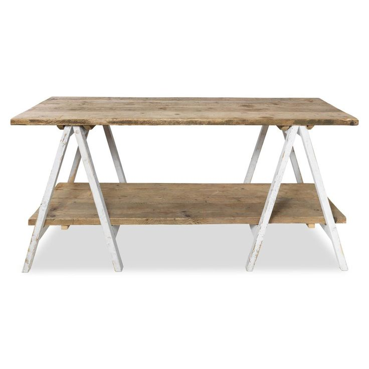 cheap wood trestle table 2