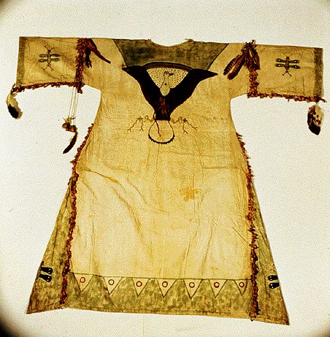 A Lakota Ghost Dancing shirt, believed to protect its wearer from bullets.