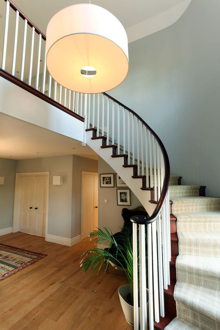 Modern country home staircase | Interior design by www.newlandinteriors.co.uk