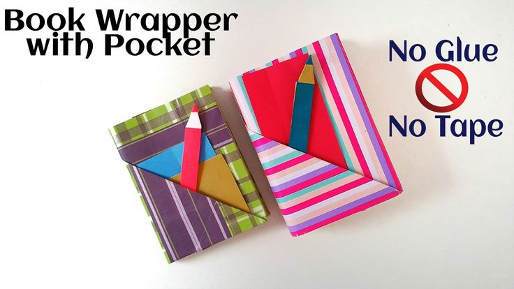 "Useful Origami - Paper ""Book wrap with Pocket & Bookmark"" - (No Glue, No..."