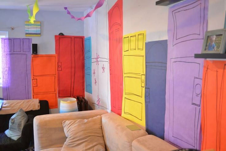 Door for a Monsters Inc birthday party...wild about the wall