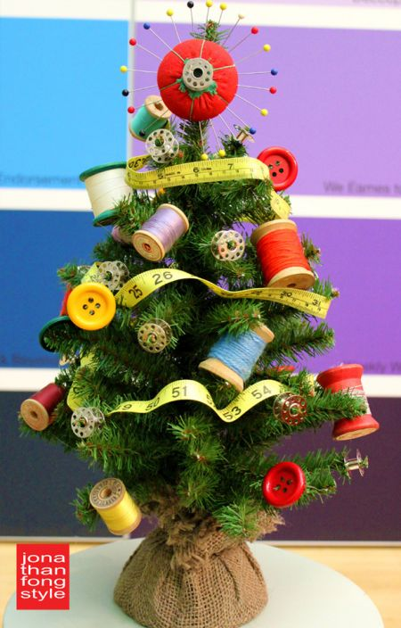 Sewing Themed Christmas Tree - Quilting Digest