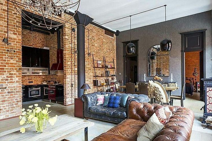 Captivating industrial style loft apartment in Moscow Industrial