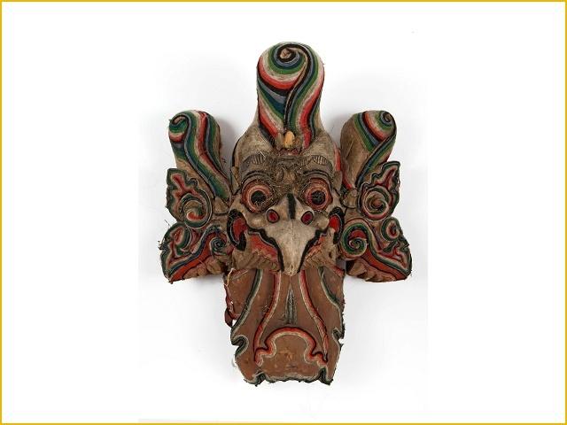 Garuda - Houten beeld, voorstellende een mythische vogel, onderdeel van verbrandingstoren (Tropenmuseum - Bali)