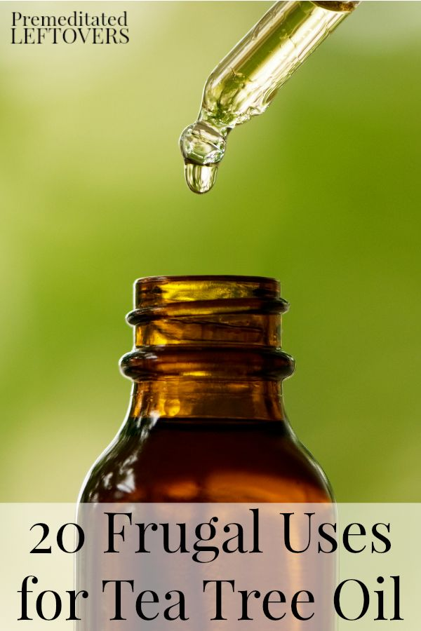 20 Frugal Uses for Tea Tree Oil - Here are 20 ways to use tea tree essential oil (melaleuca oil) for personal care, health, and to clean around the house.