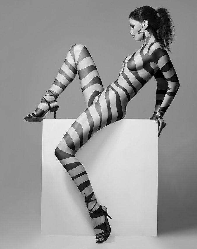 nude body paint zebra gallery
