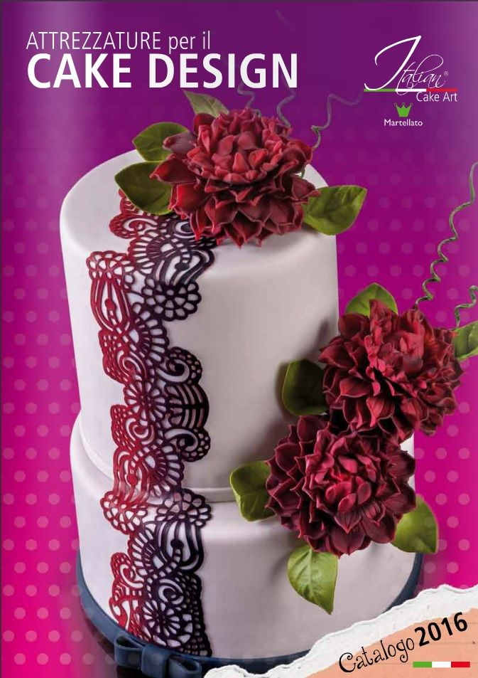 ITALIAN CAKE ART 2016 CATALOGUE Dress your cake with sugar: the 2016 edition of the Italian Cake Art catalogue is online. Among the new products, such as the alphabet and number moulds, and the best sellers like Sugar Dress and Sugar Pearl, you will find everything you need to express your fantasy. Click here http://goo.gl/GqLpO8 to download the new catalogue or here http://goo.gl/wD1owo to browse it.