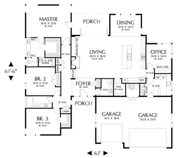 By far my favorite so far 2300 sq feet main floor would for Riverside house plans