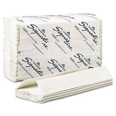 Georgia-Pacific Signature 23000 IDGAZt 2-Ply Premium C-Fold Paper Towel, 3Pack (12 Clips)