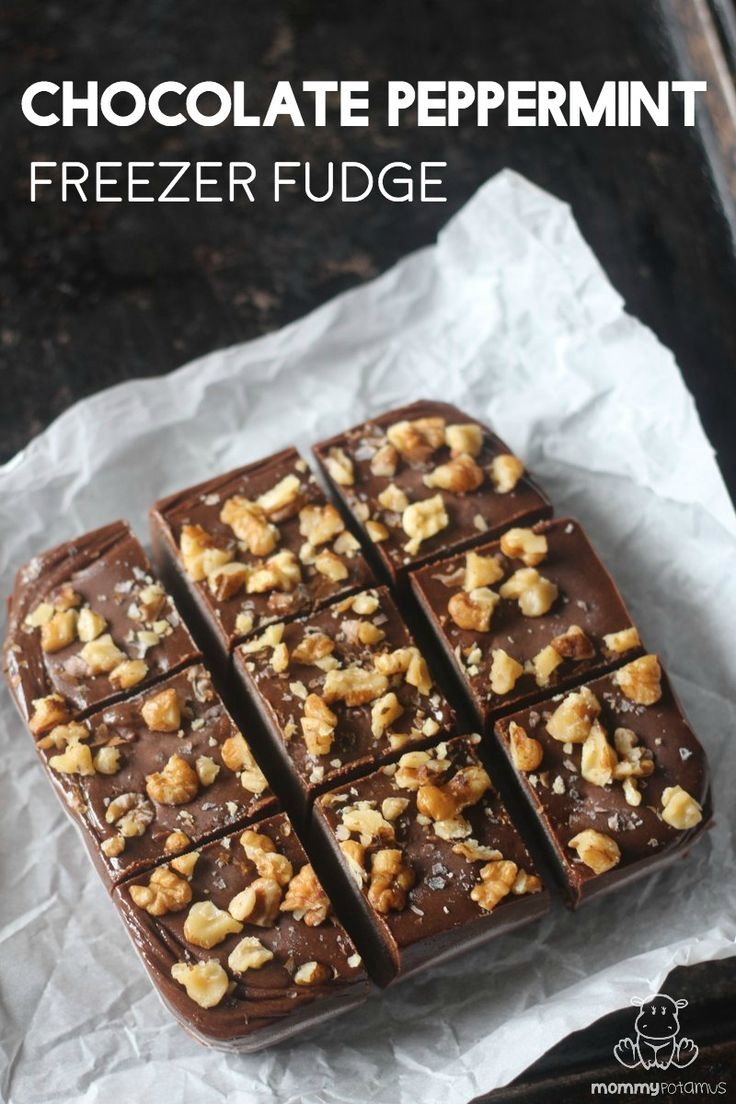 This freezer fudge recipe reminds me of biting into a Thin Mint cookie, and it only takes 10 minutes of hands-on time to make.