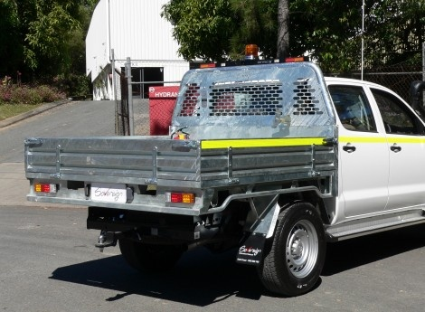 Toyota Hilux Dual Cab Sovereign Steel Tray Galvanised (TS-TY-HL-01-G) | Sovereign Design
