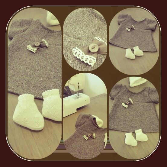 Warm winter dress for your baby girl!!!Handmade by Elsa