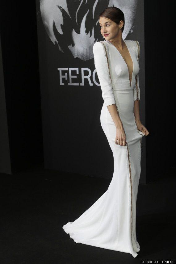 Shailene Woodley Smolders In White-Hot Dress