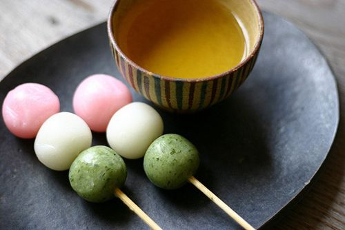 Dango are Japanese sweet dumplings made from rice flour, which are often served with green tea and originally came from China a thousand years ago. Dango come in so many different flavors, shapes, and colors!