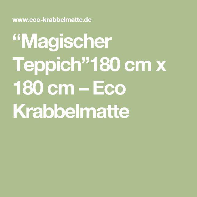 """""""Magischer Teppich""""180 cm x 180 cm – Eco Krabbelmatte"""