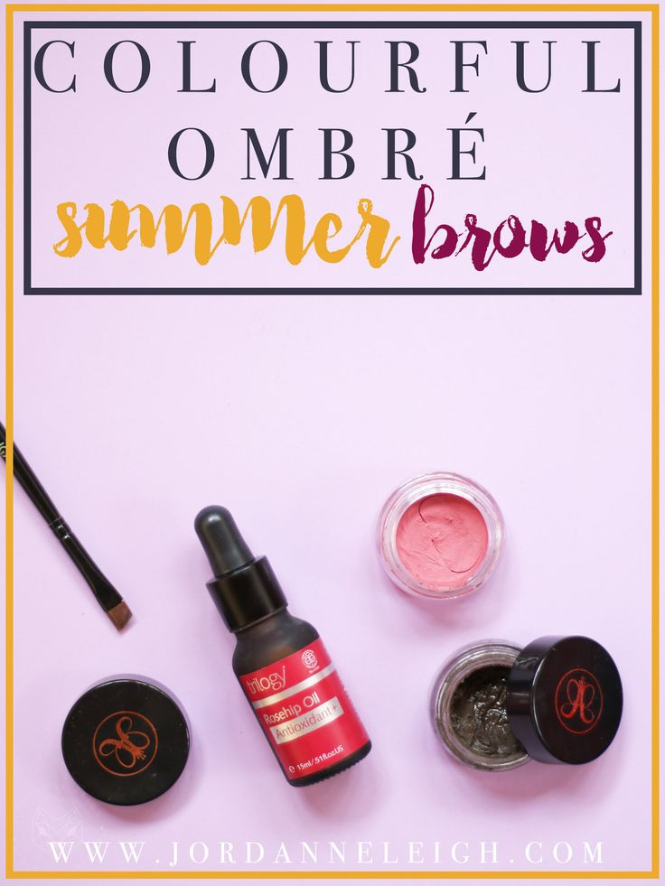 Colourful Ombre Brow Tutorial for Summer