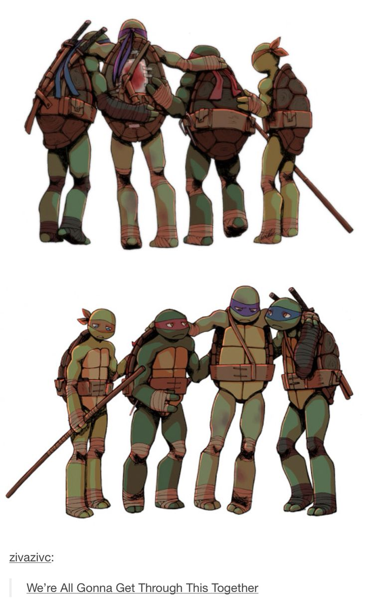 """""""Based on the IDW TMNT comics in which Donnie almost dies where his shell is cracked open"""" DAMN IT NO, DONT GIVE ME THESE FEELZ, IM CRYING, CANT STOP, THE EMOTION IN THERE FACES IS WHATS GETTING ME, HOLY FLIP #IDW TMNT Comics #TMNT"""