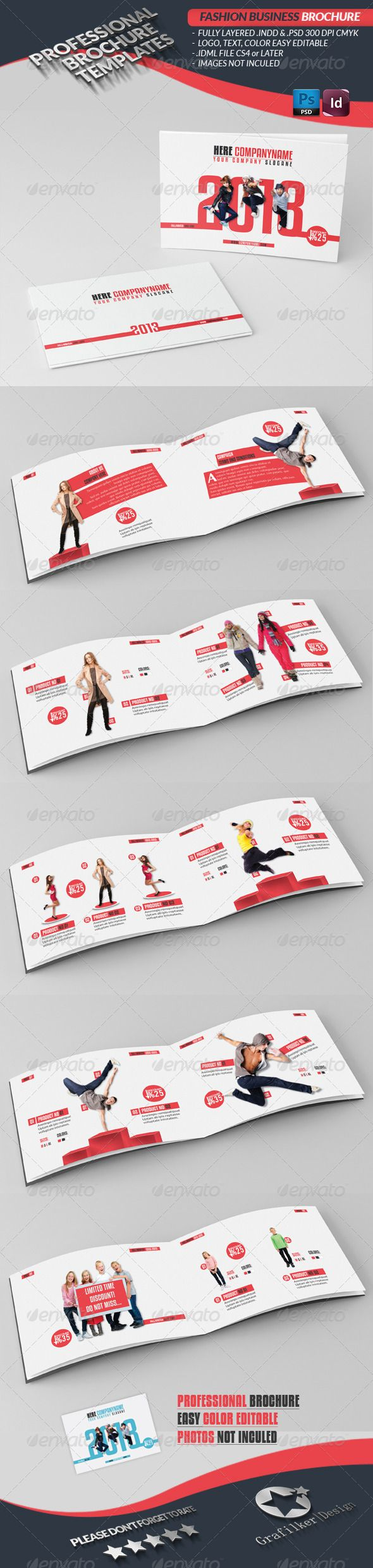 Fashion Brochure A5  — PSD Template #fig #autumn • Download ➝ https://graphicriver.net/item/fashion-brochure-a5/3228442?ref=pxcr