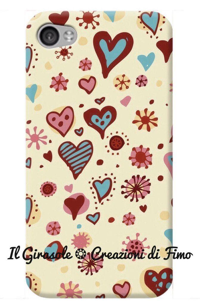 Cover per cellulare fatta a mano con cuori e cuoricini, by Il Girasole ❂ Creazioni di Fimo, 12,00€ su misshobby.com