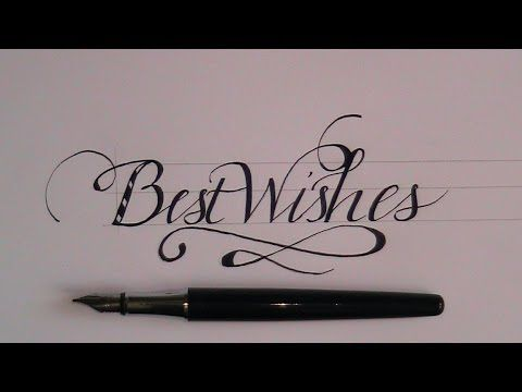 """how to write in cursive - fancy lettes for beginners """"best wishes"""" - YouTube"""