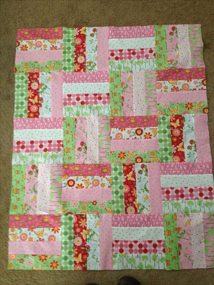 Easy Quilt Patterns For Baby : Baby Quilt My Quilts Pinterest Easy patterns, Patterns and Rail fence