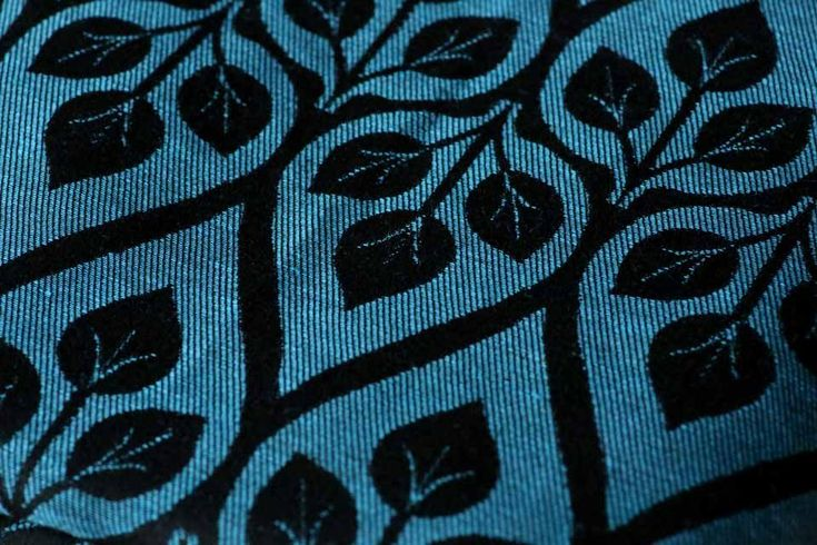Yaro Slings La Vita Blue-Black Wrap (linen)