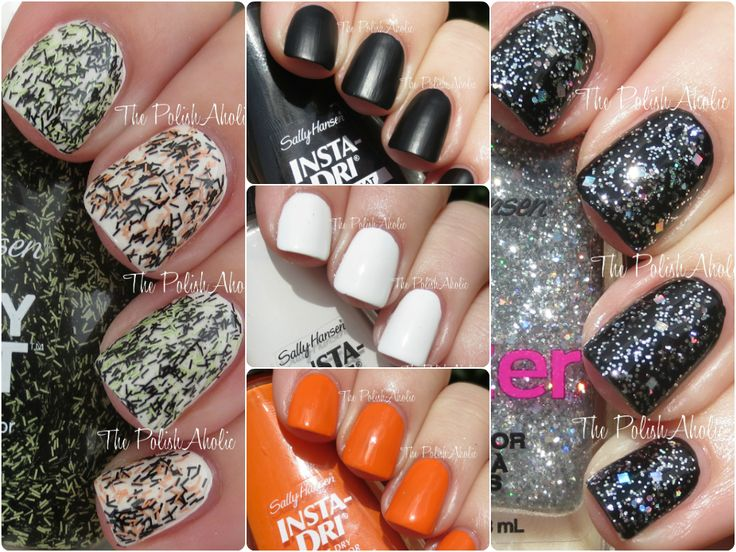 The Polishaholic Sally Hansen Themed Nail Polish Swatches Review 179 Best Art Stamping Tips Images On Pinterest