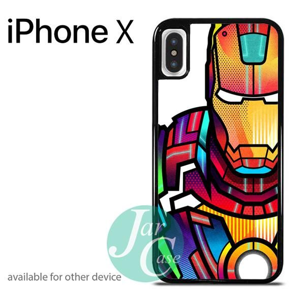 Ironman colorful art Phone case for iPhone X