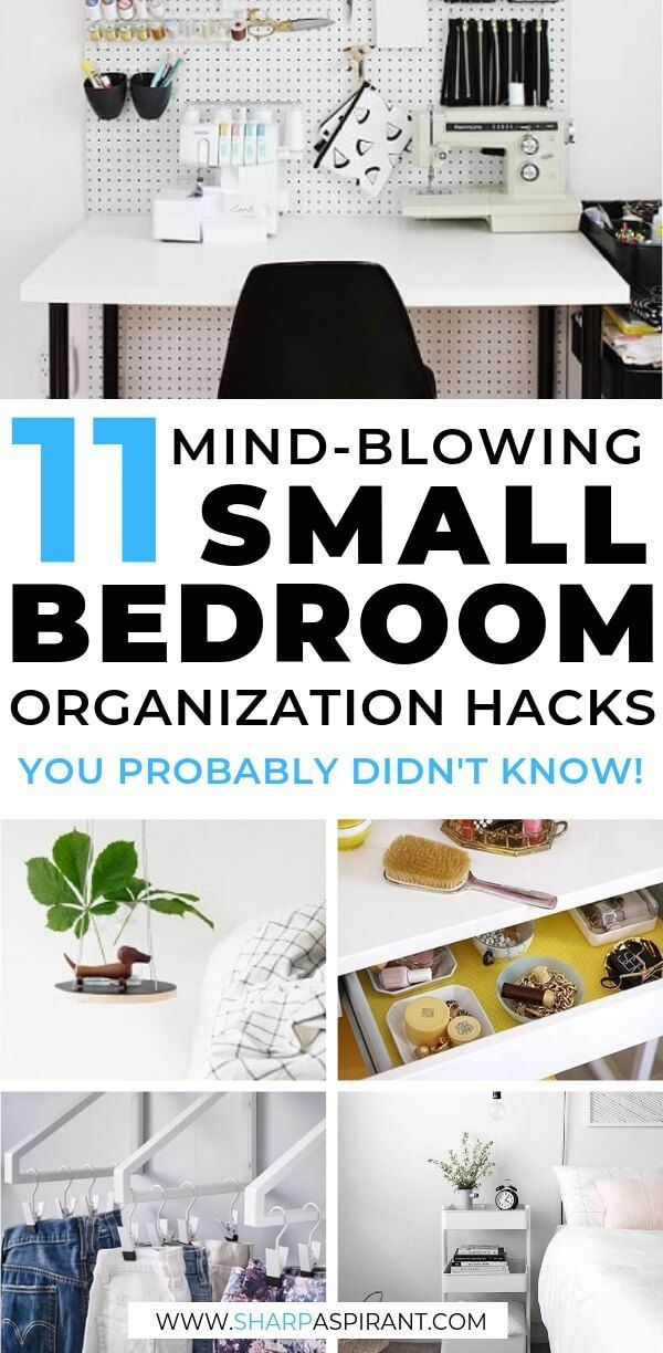 Genius Space Saving Ideas For Your Small Bedroom Sharp Aspirant Small Room Organization Small Bedroom Organization Small Bedroom