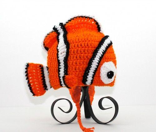 Finding Nemo Earflap Hat Pixar Disney, Send Size Baby - Adult