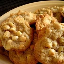 White Chocolate Macadamia Nut Cookies III- use this recipe and as reviews suggest use half butter and half shortening;)