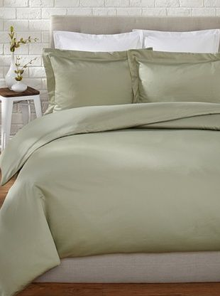 57% OFF Westport Linens 500 TC Egyptian Cotton Duvet Set (Sage)