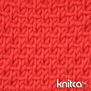 Right side of knitting stitch pattern   Slip Stitch 17 : www.knitca.com Instr...