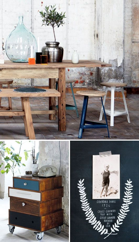 maderaNature Wood, Old Drawers, Kitchens Tables, Wood Tables, Bedside Tables, Wooden Tables, Inspiration Interiors, Chest Of Drawers, House Decor