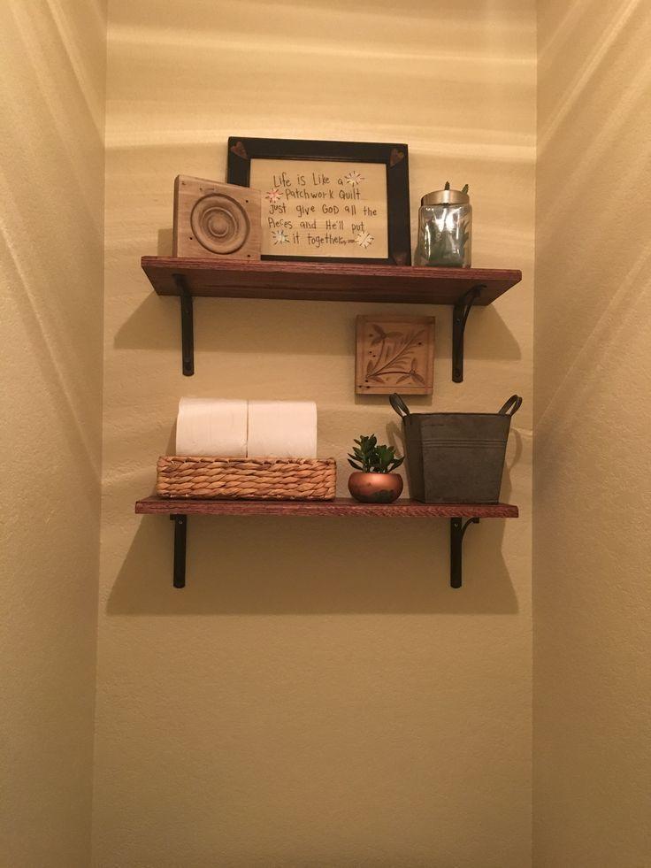Shelves above toilet   – Bathroom remodel – #bathroom #remodel #Shelves #toilet …   – most beautiful shelves