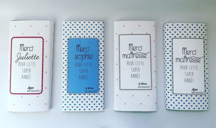 Emballage pour tablette de chocolat, personnalisé : Emballages cadeaux par babycrealya