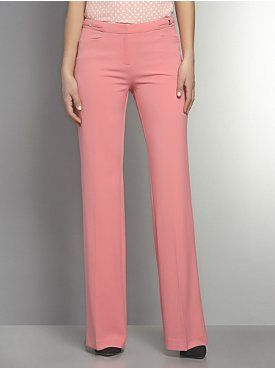 The 7th Avenue Wide Leg Pant with Silvertone Hardware Detail - Petite