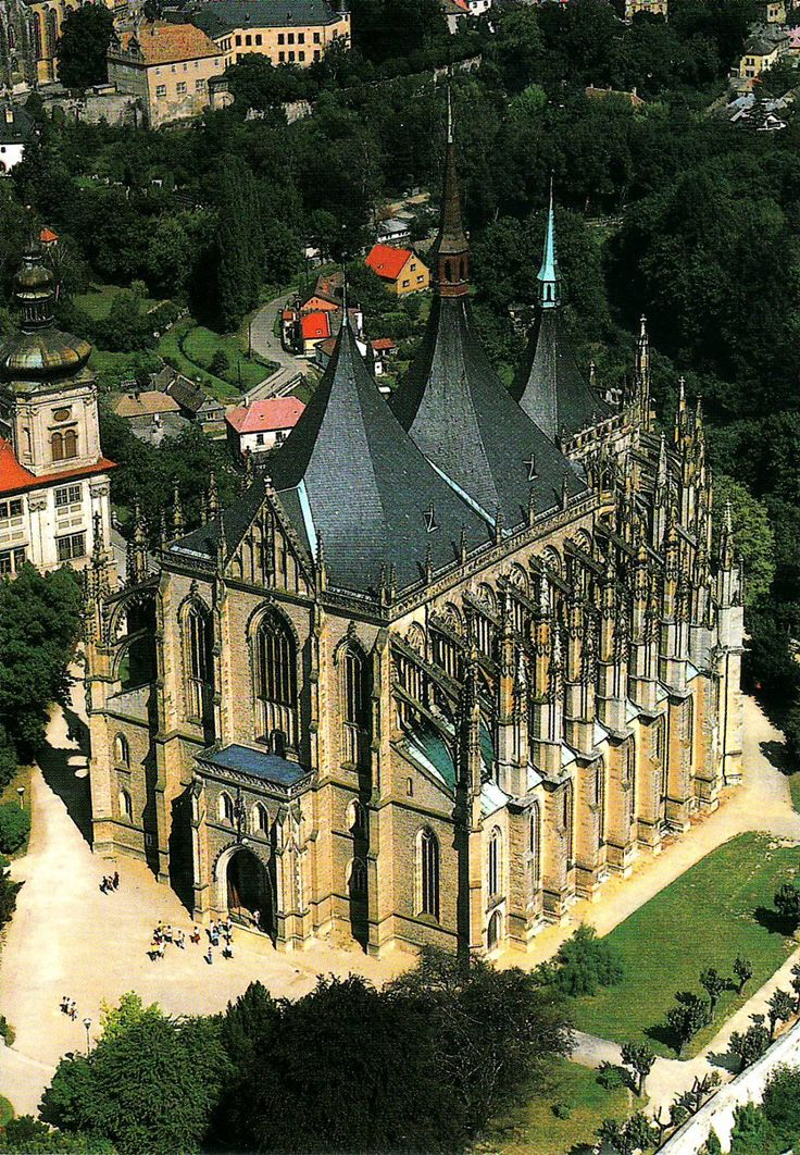 St. Barbara's Church in Kutna Hora, Czech Republic. Roman Catholic church begun in 1388, but not completed until 1905.