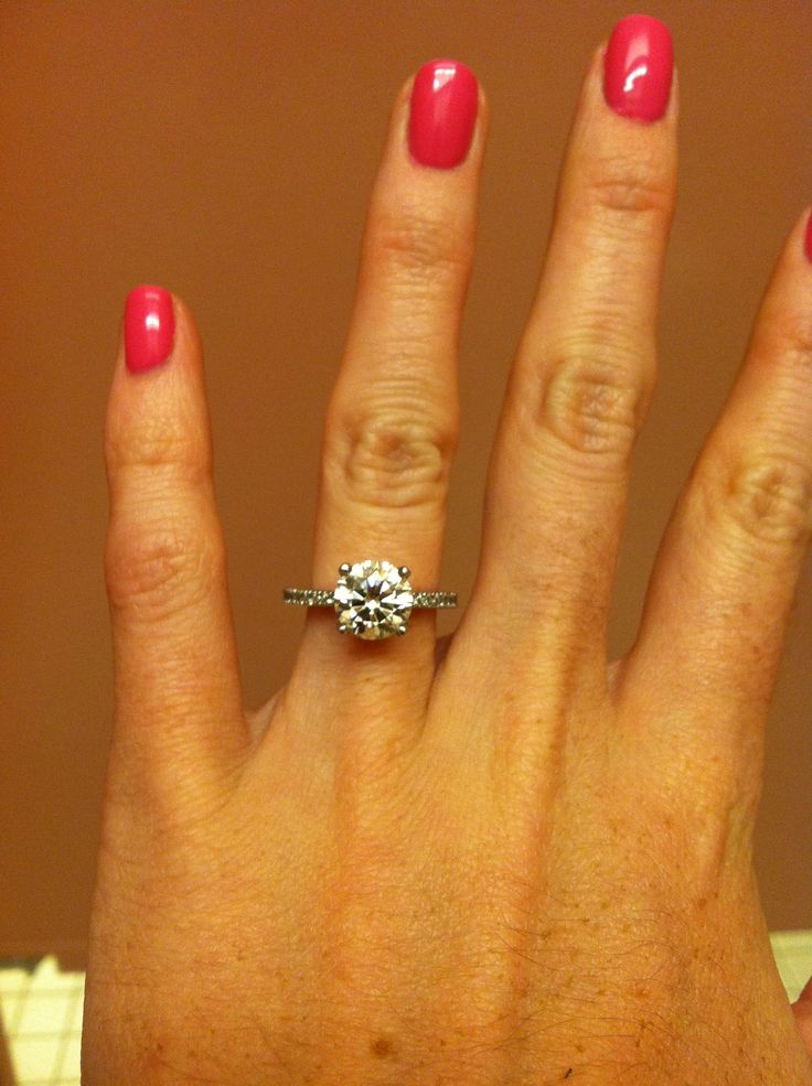 Absolutely Perfect Engagement Ring Round 2 5 Carat With A Pave Diamond Band