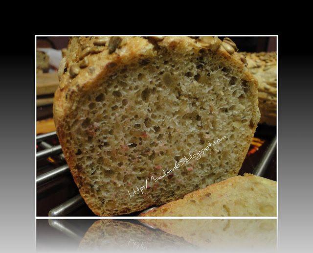 Reminiscencje smaku: Niebezpieczny chleb pszenno-żytni ze słonecznikiem... Dużo szczegółów dot pieczenia np.