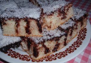 Kefírová kokosová buchta (koláč) - píchaná/VYZKOUŠENÉ