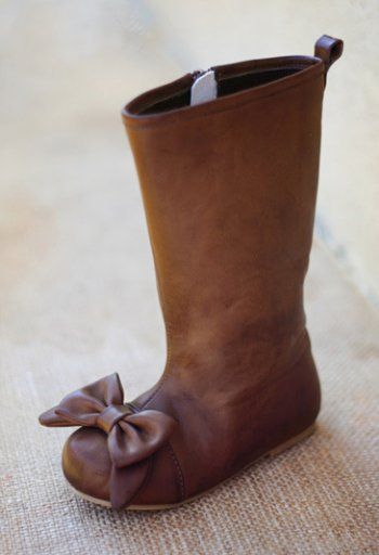 Girls Couture Brown Bow Boot, Infant 6 to Girls 6 Now in Stock! $79.99