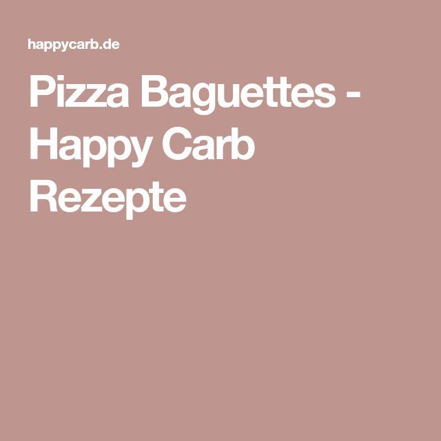 Pizza Baguettes - Happy Carb Rezepte
