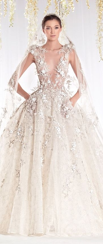 Ziad nakad 2015 haute couture bridal dress robes de r ve for Couture de reve