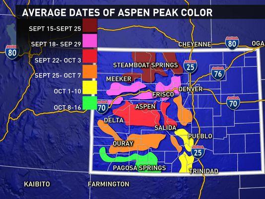 Colorado Fall Colors Map My blog