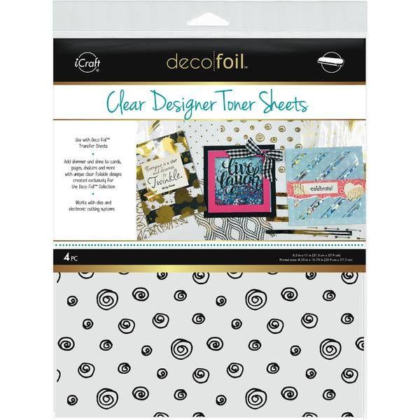 Deco Foil Clear Designer Toner Sheets – Doodles