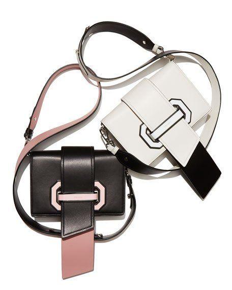 Prada Plex Ribbon Geometric Small Shoulder Bag