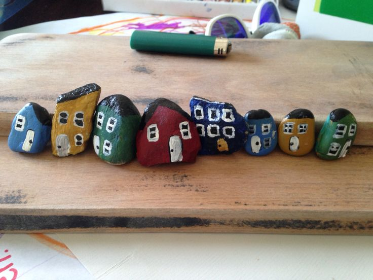 Newfoundland rocks painted NFLD houses for garden